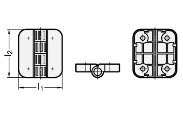 scharniere mit raststellungen kunststoff breite l1 45 l nge l2 50. Black Bedroom Furniture Sets. Home Design Ideas